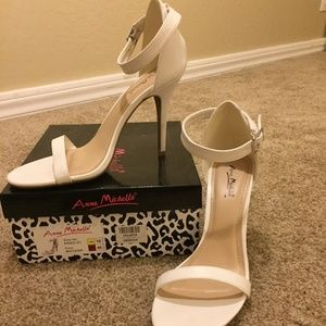 Strappy White Heels - LIKE NEW!!